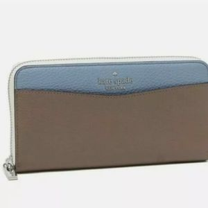 Kate Spade Leila colorblock Large Continental Wallet